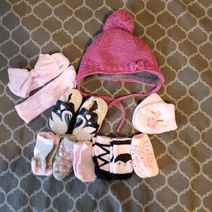*2 for $25* Baby girl accessory bundle